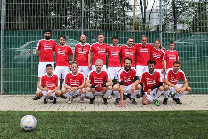 Fussballteam des Unternehmens